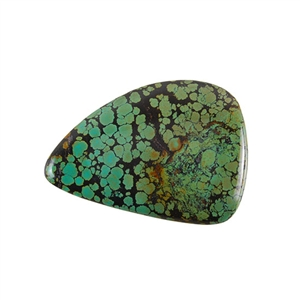 Stabilized Turquoise Gemstone - Cabochon Freeform 45x63mm - Pak of 1