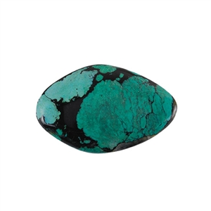 Stabilized Turquoise Gemstone - Cabochon Freeform 34x53mm - Pak of 1