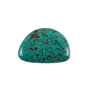 Stabilized Turquoise Gemstone - Cabochon Freeform 32x48mm - Pak of 1