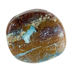Stabilized Turquoise Gemstone - Cabochon Freeform 21.5mm x 23.5mm - Pkg of 1