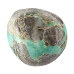 Stabilized Turquoise Gemstone - Cabochon Freeform 16.5mm x 17.5mm - Pkg of 1