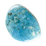Stabilized Turquoise Gemstone - Cabochon Freeform 26.5mm x 36.5mm - Pkg of 1