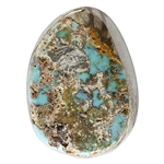 Stabilized Turquoise Gemstone - Cabochon Freeform 19.5mm x 26mm - Pkg of 1