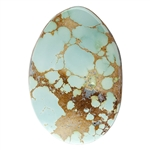 Stabilized Turquoise Gemstone - Cabochon Freeform 27mm x 40mm - Pkg of 1