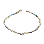 "Paua Abalone Shell Gemstone - Tube 5-7mm - 16"" Strand"