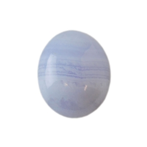 Natural Blue Lace Agate Gemstone - Cabochon Oval 10x12mm - Pak of 1