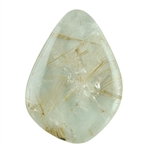 Golden Rutilated Quartz Gemstone - Freeform Cabochon 21mm x 28mm Pkg - 1