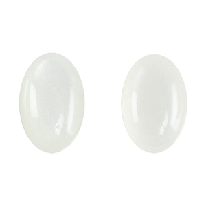 Natural Moonstone Gemstone - Cabochon Pear 10mm x 25mm - Matched Pair