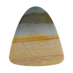 Polychrome Jasper Gemstone - Bell Cabochon 39mm x 42mm - Pak of 1