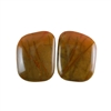 Red Creek Jasper Gemstone - Cabochon Freeform 14x18mm - Matched Pair