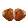 Red Creek Jasper Gemstone - Cabochon Freeform 20x21mm - Matched Pair