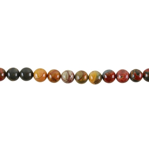 "Red Creek Jasper Gemstone - Round 8mm - 16"" Strand"