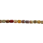"Red Creek Jasper Gemstone - Flat Rectangle 8x10mm - 16"" Strand"