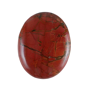 Red Creek Jasper Gemstone - Cabochon Oval 39x50mm