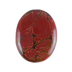Red Creek Jasper Gemstone - Cabochon Oval 39x50mm - Pak of 1