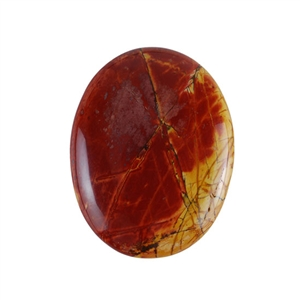 Red Creek Jasper Gemstone - Cabochon Oval 38x49mm - Pak of 1