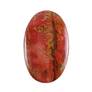 Red Creek Jasper Gemstone - Cabochon Oval 34mm x 54mm - Pak of 1
