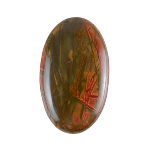 Red Creek Jasper Gemstone - Cabochon Oval 30x50mm - Pak of 1