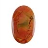 Red Creek Jasper Gemstone - Cabochon Oval 28mm x 45mm - Pak of 1
