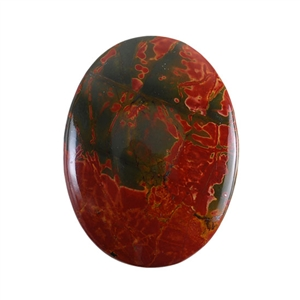 Red Creek Jasper Gemstone - Cabochon Oval 30mm x 40mm - Pak of 1