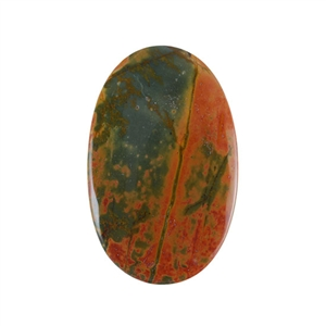 Red Creek Jasper Gemstone - Cabochon Oval 34x54mm - Pak of 1