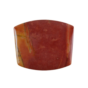 Red Creek Jasper Gemstone - Cabochon Tapered Barrel 21x25mm - Pak of 1