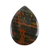 Red Creek Jasper Gemstone - Cabochon Teardrop 35mm x 48mm - Pak of 1