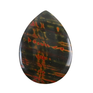 Red Creek Jasper Gemstone - Cabochon Teardrop 25x48mm - Pak of 1