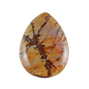 Red Creek Jasper Gemstone - Cabochon Teardrop 30x40mm - Pak of 1