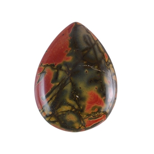 Red Creek Jasper Gemstone - Cabochon Teardrop 30x40mm