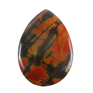Red Creek Jasper Gemstone - Cabochon Teardrop 30mm x 42mm - Pak of 1