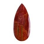 Red Creek Jasper Gemstone - Cabochon Teardrop 26mm x 57mm - Pak of 1