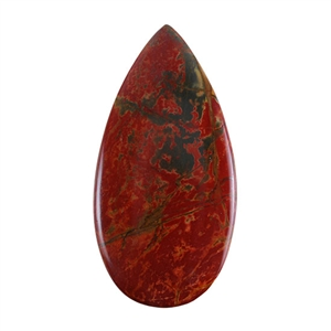 Red Creek Jasper Gemstone - Cabochon Teardrop 30mm x 60mm - Pak of 1