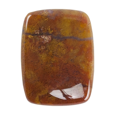 Red Creek Jasper Gemstone - Cabochon Rectangle 15mm x 20mm - Pak of 1