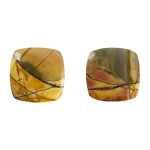 Red Creek Jasper Gemstone - Cabochon Rectangle 22mm x 32mm - Pak of 1