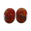 Red Creek Jasper Gemstone - Cabochon Oval 12mm x 16mm - Matched Pair