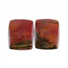 Red Creek Jasper Gemstone - Cabochon Rectangle 13mm x 16mm - Matched Pair