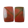 Red Creek Jasper Gemstone - Cabochon Rectangle 12mm x 18mm - Matched Pair