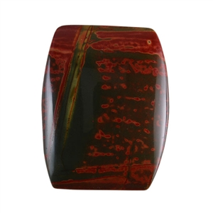 Red Creek Jasper Gemstone - Cabochon Barrel 33x25mm - Pak of 1
