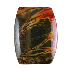 Red Creek Jasper Gemstone - Cabochon Barrel 25x33mm