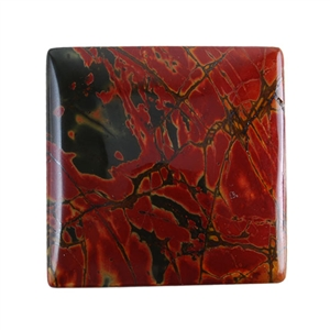 Red Creek Jasper Gemstone - Cabochon Square 35mm - Pak of 1