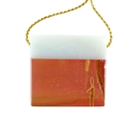 Inlay Azeztulite and Red Creek Jasper Gemstone - Rectangle 31x29mm Pendant - Pak of 1