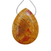 Red Creek Jasper Gemstone - Pear Pendant 30x41mm - Pak of 1