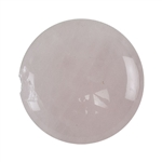 Natural Rose Quartz Gemstone - Defective Stone - Cabochon Round 25mm