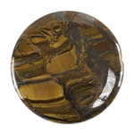 Tiger Iron Gemstone - Defective Stone - Round Cabochon 40mm