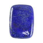 Natural Lapis Lazuli Gemstone - Defective Stone - Cabochon Rectangle 18x25mm