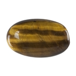 Natural Yellow Tiger Eye Gemstone - Defective Stone - Cabochon Oval 14x23mm