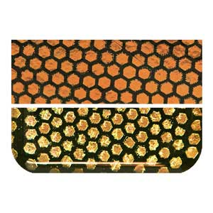 Glass - Dichroic - Honeycomb Orange