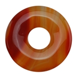 Glass Stone - Orange Pendant Round 45mm Pkg - 1