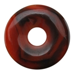 Glass Stone - Red Pendant Round 36mm Pkg - 1